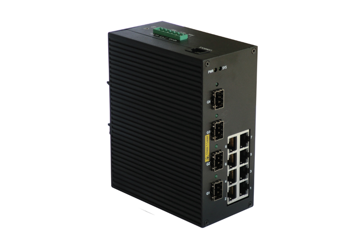 P612A 8+4G PoE Managed Industrial Ethernet Switches