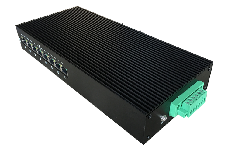 Custom low-voltage Gigabit 8 Industrial POE Switch